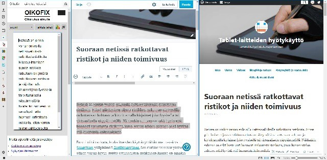 Blogikirjotus Vivaldi-selaimessa